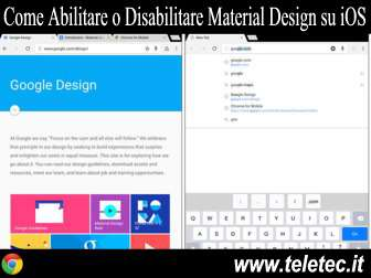 Come Abilitare o Disabilitare Chrome Material Design su iOS