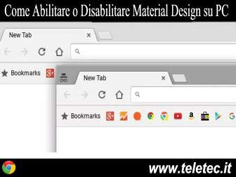 Come abilitare o disabilitare chrome material design su pc