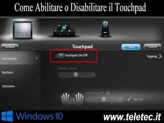 Come Abilitare o Disabilitare il Touchpad quando si Connette il Mouse in Windows 10