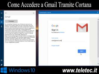 Come Accedere a Gmail Tramite Cortana su Windows 10
