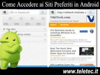 Come Accedere ai Siti Preferiti in Android
