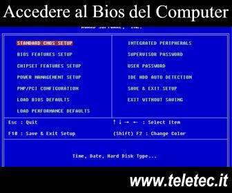 Come Accedere al Bios