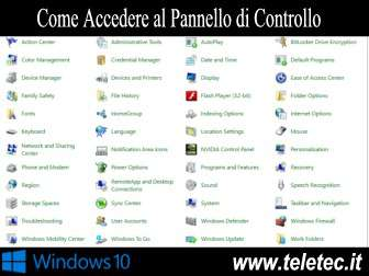 Come Accedere al Pannello di Controllo di Windows 10