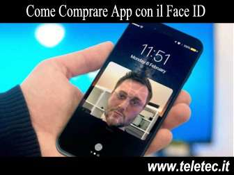 Come Acquistare App con Face ID dell'iPhone X