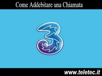Come Addebitare le Telefonate con TRE