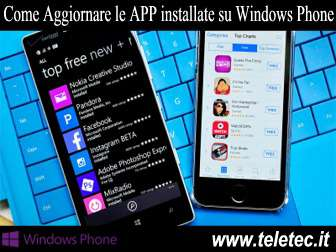 Come Aggiornare Manualmente le APP installate su Windows Phone