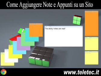 Come Aggiungere Note e Appunti in un Sito con Google Chrome - Sticky Notes