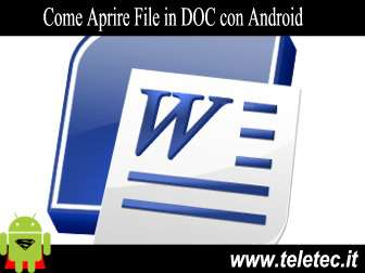 Come Aprire e Modificare un File DOC in Android