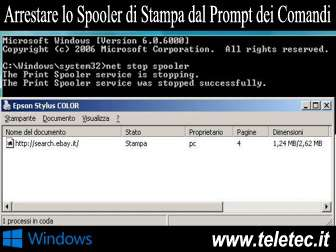 Come Arrestare lo Spooler di Stampa in Windows con il Prompt dei Comandi