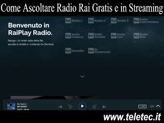 Come Ascoltare le Radio Rai Gratis e in Streaming