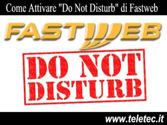 Come attivare do not disturb di fastweb