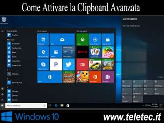Come Attivare la Clipboard Avanzata su Windows 10