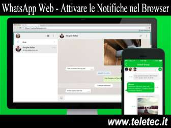 Come Attivare le Notifiche di WhatsApp Web su Browser