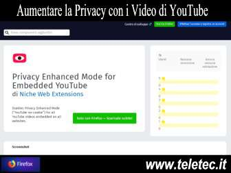 Come Aumentare la Privacy quando si Vedono i Video di YouTube in un Sito Web con Firefox