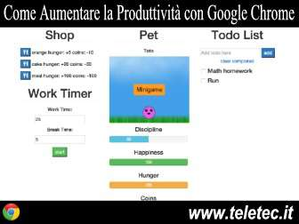 Come Aumentare la Produttività con Google Chrome e Productivity Pet