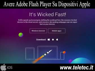 Come Avere Adobe Flash Player su Dispositivi Apple