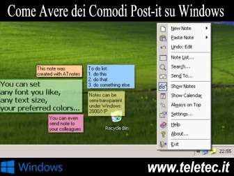 Come Avere dei Comodi Post-it su Windows - ATnotes