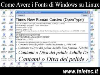 Come avere i fonts di windows su linux