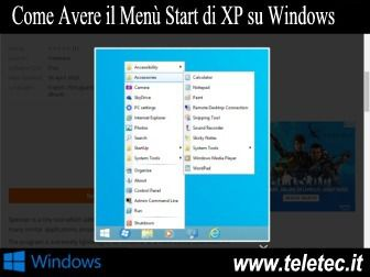 Come Avere il Menù Start di Windows XP su Windows 8 - Spencer
