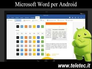 Come Avere Microsoft Word su Tablet e Smartphone Android