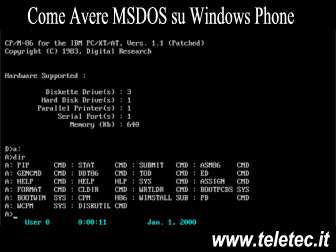 Come Avere MSDOS su Windows Phone