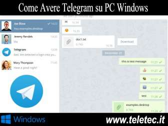 Come Avere Telegram su PC Windows - Telegram Desktop Portable