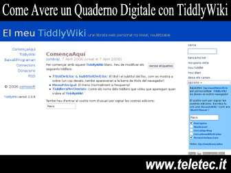 Come Avere un Quaderno Digitale in HTML con TiddlyWiki