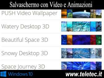 Come avere un salvaschermo con video o animazione su windows 10  push video wallpaper