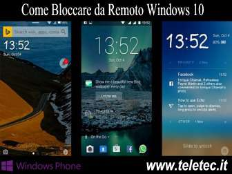 Come bloccare da remoto windows 10 con find my device