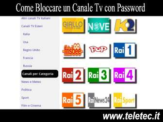 Come Bloccare un Canale Tv con Password