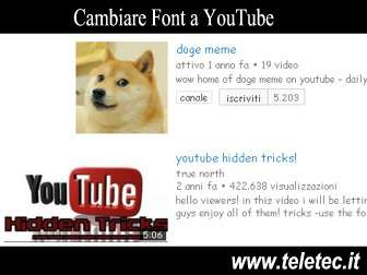 Come Cambiare Font a YouTube