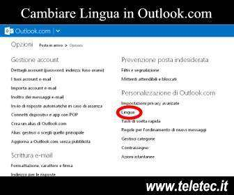 Come cambiare Lingua ad Outlook.com o Hotmail