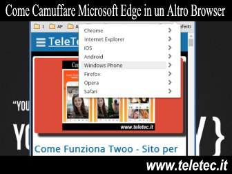 Come Camuffare su PC Microsoft Edge in un Altro Browser