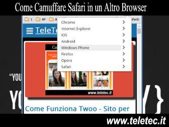 Come Camuffare su PC Safari in un Altro Browser