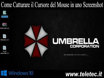 Come Catturare il Cursore del Mouse in uno Screenshot su Windows 10