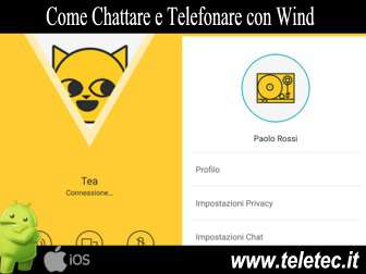 Come Chattare, Telefonare e Condividere Video e Foto con Wind