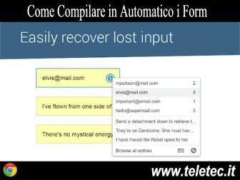 Come Compilare Velocemente i Form Online con Google Chrome - Typio Form Recovery