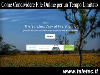 Come Condividere File Online per un Tempo Limitato - 5minutestorage