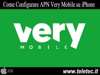 Come Configurare Internet su iPhone per Navigare con Very Mobile