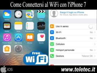 Come connettersi al wifi con liphone 7