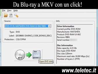 Come convertire da Blu-ray a MKV