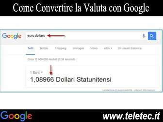 Come Convertire da Euro in Dollari con Google