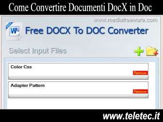 Come Convertire Documenti DocX in Doc - Free Docx to Doc Converter