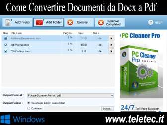Come Convertire Documenti DocX in PDF - Free DocX to PDF Converter
