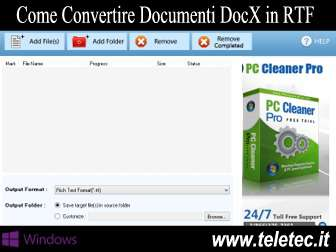 Come Convertire Documenti DocX in RTF - Free DocX to RTF Converter