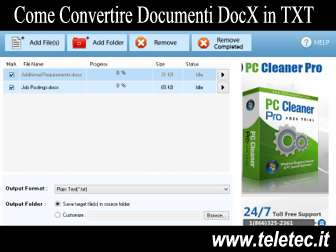 Come Convertire Documenti DocX in TXT - Free DocX to TXT Converter