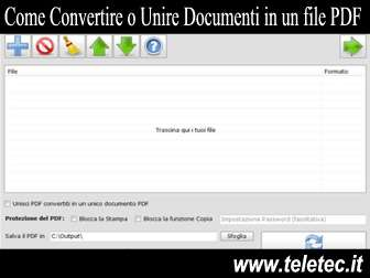 Come Convertire e Unire Documenti in un file PDF - Batch WORD to PDF