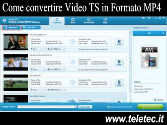 Come convertire file ts in formato mp4 avi o mpg