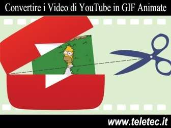 Come Convertire i Video di YouTube in GIF Animate