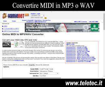 Come Convertire MIDI in MP3 o WAV tramite Internet